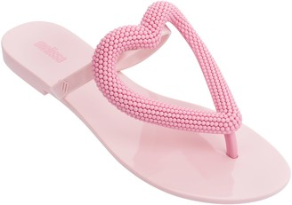 Melissa Heart Thong Sandals - Big Heart