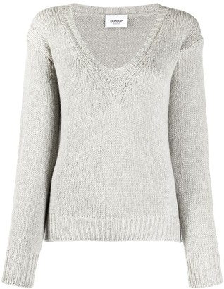 Dondup V-Neck Chunky Knit Jumper