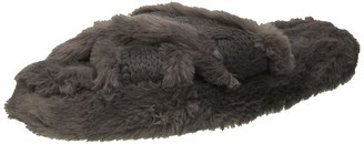 Dearfoams Women's Cable and Pile Crossband Slipper