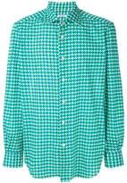 Kiton pattern print shirt