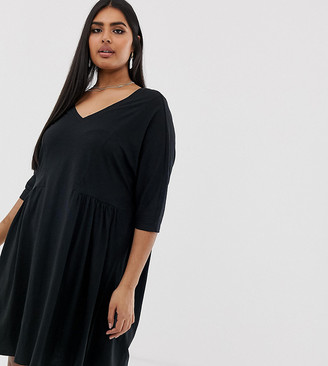 Junarose v- neck jersey dress