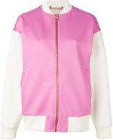 Diesel contrasted bomber jacket - women - Cotton/Polyester/Spandex/Elastane - L
