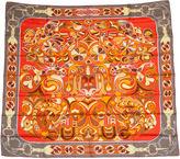 One Kings Lane Vintage Hermès Orange Folklore Scarf, D'Origny