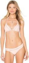 Pilyq Mesh Tri Bikini Top
