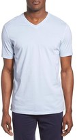 Daniel Buchler Men's V-Neck Pigment Dyed Cotton T-Shirt