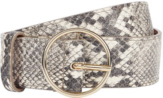 MAISON BOINET Python-Printed Leather Belt