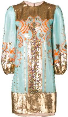 Valentino sequin embroidered mini dress