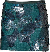 Mineral Green Sequin Baraly Skirt