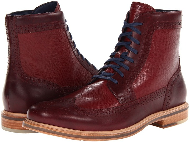 Cole Haan Cooper Sq Lightweight Boot (Tawny Port/Tawny Port Grain) - Footwear