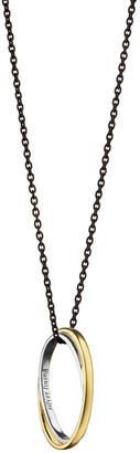 Monica Rich Kosann Silver Lining Poesy Ring Necklace