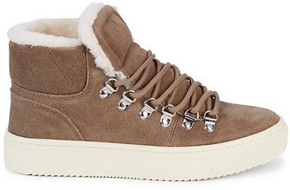Marc Fisher Daisie Faux Fur-Lined Suede Sneakers