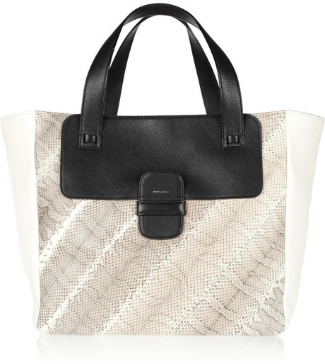Marc Jacobs Color-block leather and ayers tote