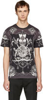 Dolce & Gabbana Grey and Black Crest T-shirt