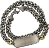 SYLVA & CIE Grey Diamond ID Wrap Bracelet
