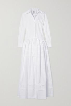 Rosie Assoulin Tiered Cotton-poplin Maxi Dress - White