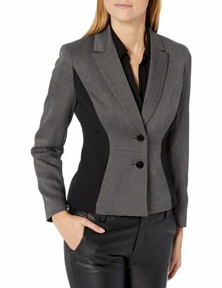 Kasper Women's 2 Button Notch Collar Herringbone Jacket