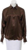 Ralph Lauren Black Label Silk Button-Up Top