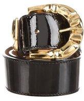 Roberto Cavalli Patent Leather Waist Belt