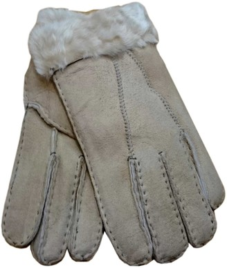 Pixieland Ladies Pure Sheepskin Gloves with Cuff that can be Rolled Up/Down (Medium