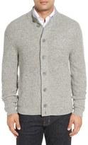 Nordstrom Men's Mock Neck Wool Blend Button Cardigan
