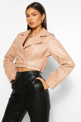 boohoo Buckle Detail Faux Leather Jacket
