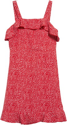 Trixxi Ruffle Front Polka Dot Dress
