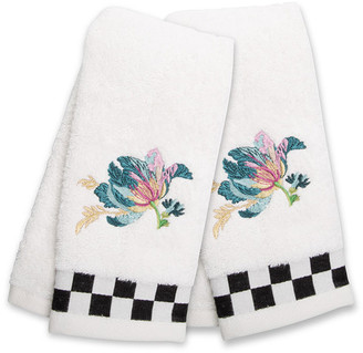 Mackenzie Childs Parrot Tulip Fingertip Towels Set of 2