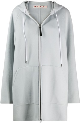 Marni Oversized Zipped Hooded Jacket