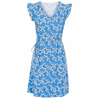 Trespass Holly Women's Short Sleeve Dress - Ocean Leaf Print M