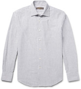 Freemans Sporting Club - Striped Cotton Oxford Shirt