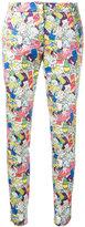 Ultràchic - Garbage print skinny trousers - women - Cotton/Spandex/Elastane - 40