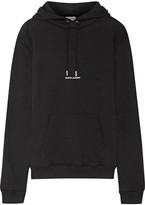 Saint Laurent Printed Cotton-terry Sweatshirt - Black
