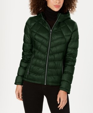 Michael Kors Michael Petite Packable Down Puffer Coat, Created for Macy's