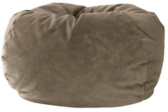 """Gold Medal Extra Small 84"""" Beige Microsuede Bean Bag"""