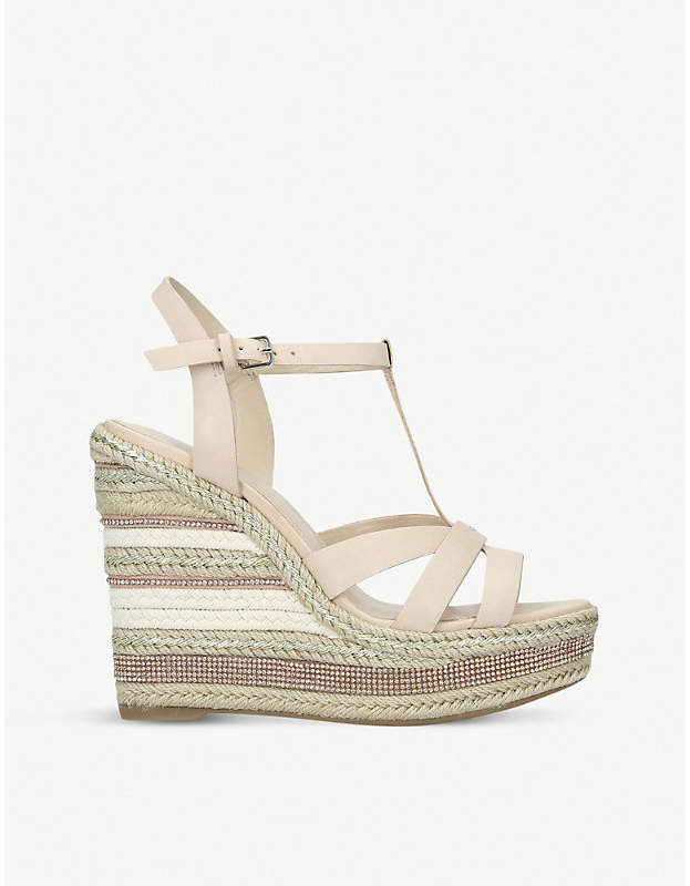 fe60aa1b3c0 Nydaycia leather wedge sandals