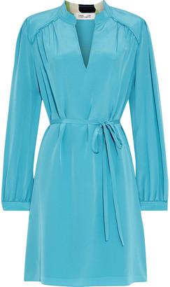 Diane von Furstenberg Glenda Gathered Silk Crepe De Chine Mini Dress
