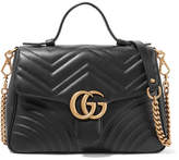 Gucci Gg Marmont Small Quilted Leather Shoulder Bag - Black