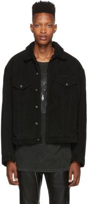 R 13 Black Corduroy Reed Oversized Jacket