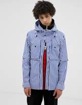 Lyph LYPH windbreaker jacket with hood in blue stripe