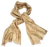 Debut Gold liquid jacquard shawl