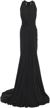 Rick Owens Lilies Draped Slub Cotton-blend Jersey Gown