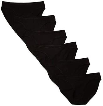 Pact Organic Cotton Classic Fit Bikini 6-Pack (Black) Women's Underwear