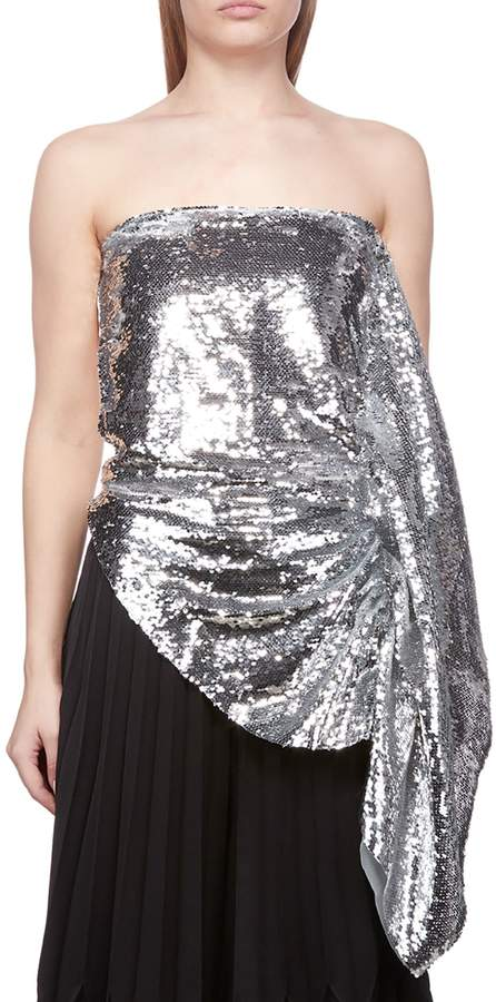 360c521478a Silver Strapless Top - ShopStyle