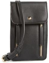 BP Zipper Phone Crossbody Bag - Black