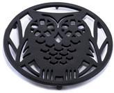ODI HOUSEWARES Matte Black Wise Owl Trivet