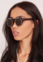 Missy Empire Jessica Brown Tinted Flip Sunglasses
