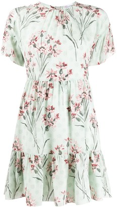RED Valentino Floral Print Silk Dress