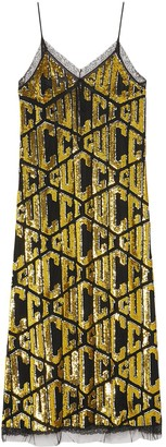 Gucci game sequins slip dress