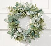 Pottery Barn Faux Silver Sage Wreath