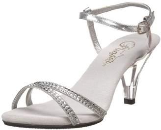 Fabulicious Belle-316, Women's Wedge Heels Sandals, Silver (Silver), 8 UK (41 EU) (11M US)